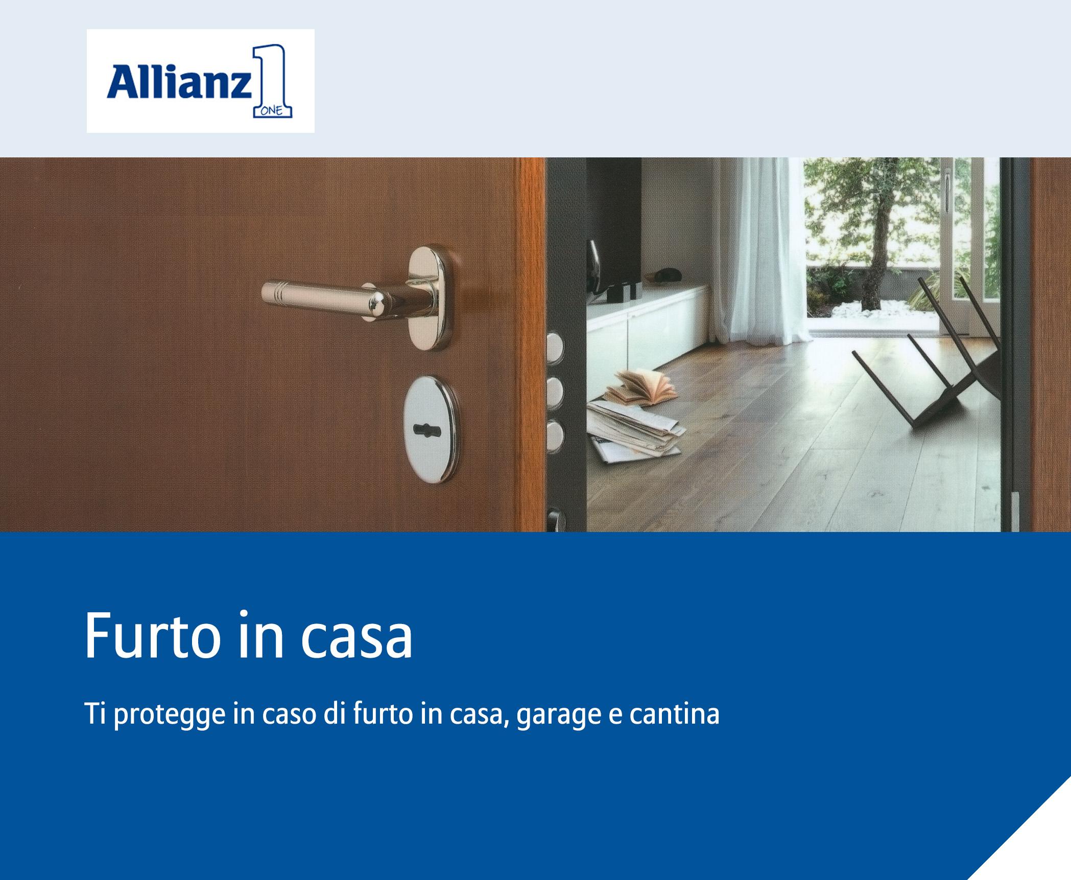 Furto in casa milella assicurazioni allianz a bari for Piccoli piani di casa con cantina e garage